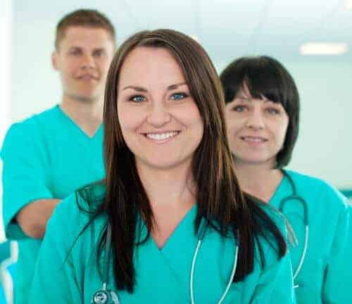 three vet nurses